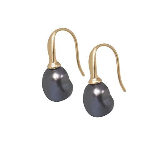 SENCE Copenhagen Xmas Update Earrings Pendientes Tahiti Pearl Mate Oro K254
