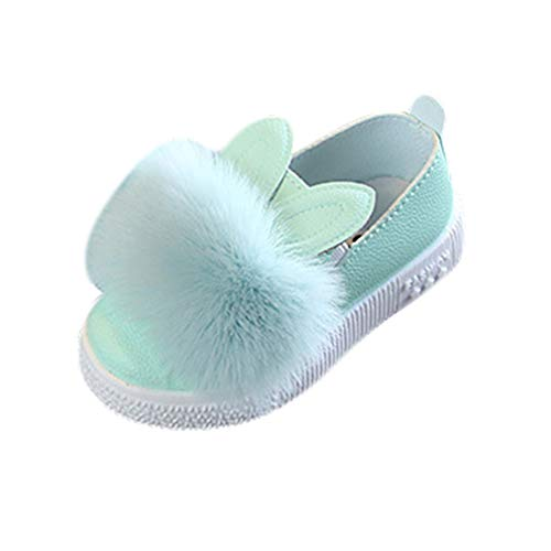 Hongxin Kinderschuhe, Flache Schuhe für Mädchen Kinder Einfarbig Flache Schuhe Wanderschuhe, Süße Plüsch Hasenohren Bequemer Sneaker für Kleinkind, Kinderprinzessin Schöne Party Kleid Schuhe