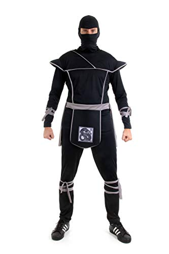 Fantasia Ninja Cinza Adulto 945166 M