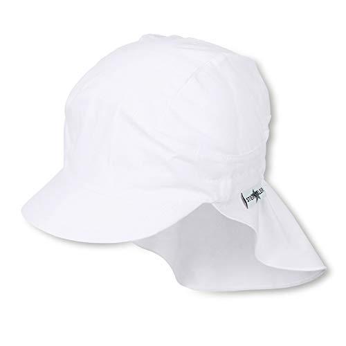 Sterntaler Unisex Schirmmütze mit Nackenschutz, Weiß (Weiss 500), 53 cm