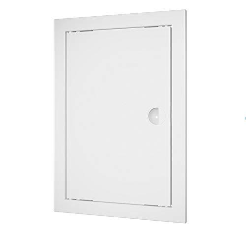 Revisionsklappe mit Handgriff, Revisionstür, Inspektionstür, Zugangstür (20x40cm, Weiß)