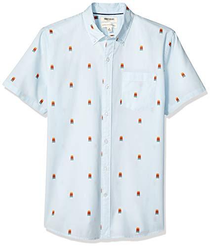 Marca Amazon - Goodthreads Standard-fit Short-sleeve Anchor-print Shirt - camisa Hombre