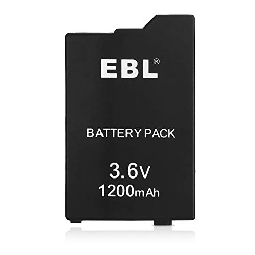 EBL 3.6V Lithium Ion Rechargeable Battery Pack 1200mAh Replacement Battery Compatible with Sony PSP 2000/3000 PSP-S110 Console