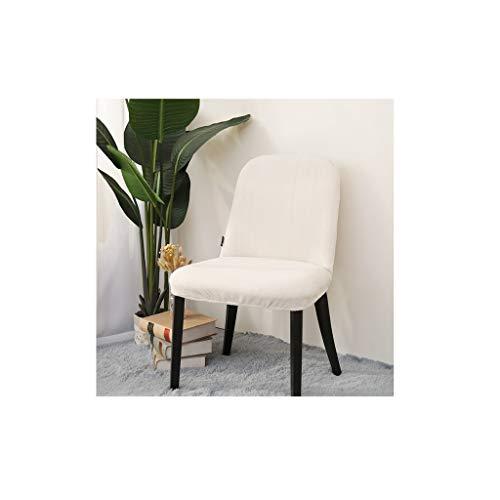 Stuhlabdeckung Stuhl-Abdeckung for Hauptdekor Dining Chair Super-Fit Stretch Herausnehmbare waschbare Kurzspeisende Stuhl-Schutz-Abdeckung Sitz Slipcover Wohnzimmer ( Color : White , Size : S )