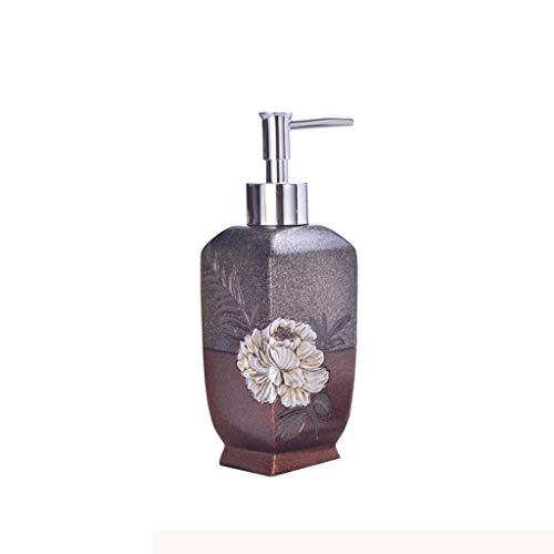 MKVRS Dispensadores de jabón para dormitorio, dispensador de jabón para encimera, loción de resina para cocina, dispensador de ducha, dispensador de jabón y loción y dispensador de jabón (color: A)