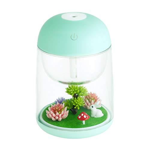 Henan Micro Paisaje Humidificador Purificador de Aire Aceites Difusor de Aroma de Aceite Esencial Luces LED