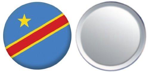 MadAboutFlags Spiegel Knopfabzeichen Flagge Fahne Demokratische Republik Kongo - 58mm