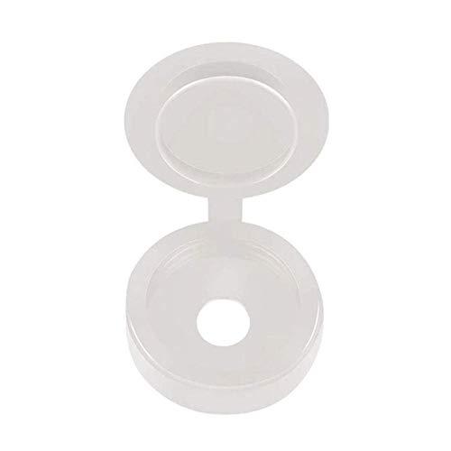 FCKJ Tornillos de Muebles 500 unids Blanco Negro Tornillo de plástico Tapas de plástico con bisagras Botón de Tapas de plástico para Muebles de Coche Cubierta Decorativa Tornillos de Muebles
