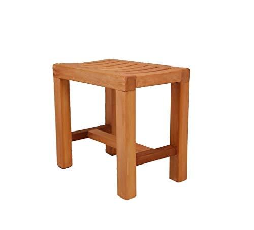 ZWH-Shower Bench Wooden Anti-Slip Shower Stool, Bath Seat Stool for Elderly/Disabled Shower Chair