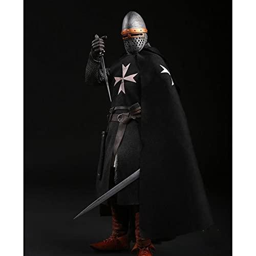 Muñeca Movible a Escala 1/6 Caballero del Hospital Caballero Medieval Europeo Soldado Imperial Modelo De Colección