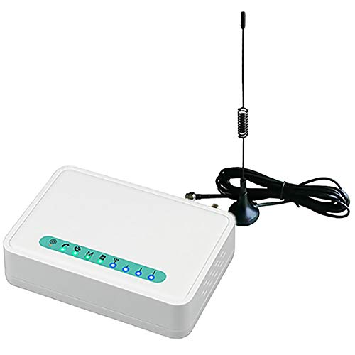 Huante Terminal inalámbrico fijo de cuatro bandas GSM con tarjeta SIM, línea teofónica llamada de escritorio, números GSM850/900/1800/1900MHZ enchufe UE