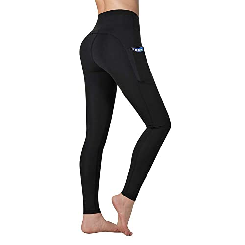 Vimbloom Leggings de Sport Femmes Pantalon de Yoga avec Poches Yoga Fitness Gym Taille Haute Leggings VI263(Noir,M)