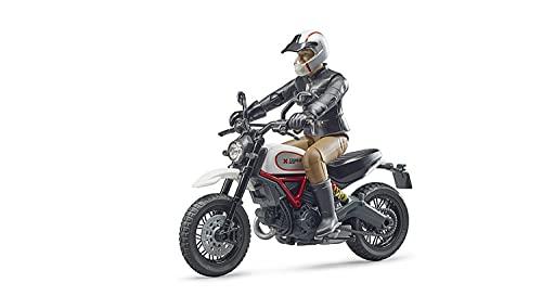 BRUDER - 63051 - Moto Ducati Desert Sled avec Motard