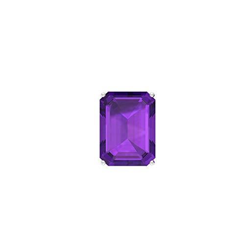Rosec Jewels 10 quilates oro rosa Octagone violeta Amethyst