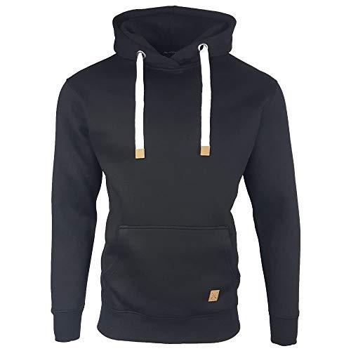 Mens OH Overhead Pullover Fleece Hoodie (Medium, Black)