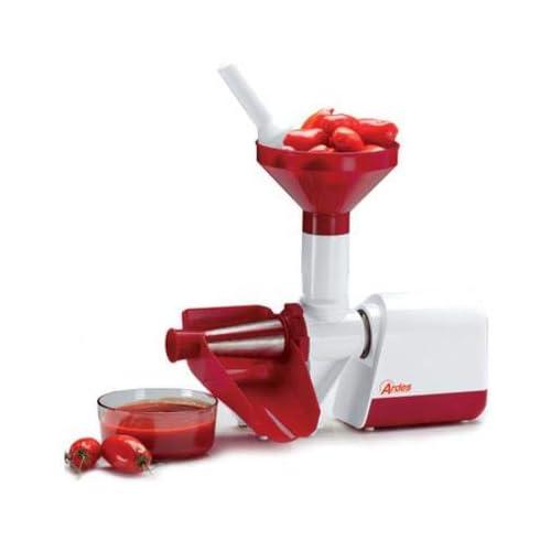Ardes AR7480 Passapomodoro elettrico, con filtro in acciaio Inox, per Passata di Pomodoro, 130 W, Rosso/Bianco