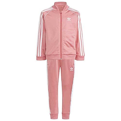 Adidas SST Tracksuit Gn7703 - Conjunto de niña, color rosa y blanco, talla 5/6 años, color rosa