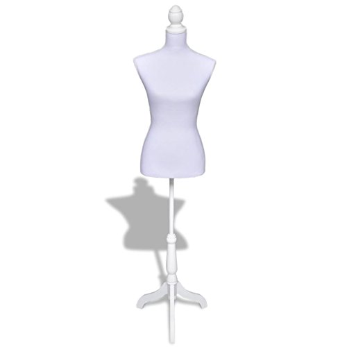 vidaXL Maniquí Busto de señoras Color Blanco Maniquí Robusto Profesional