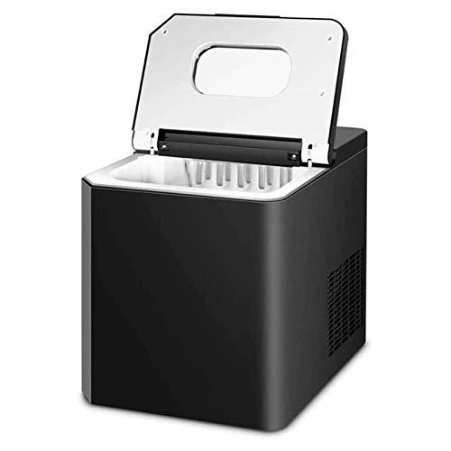 HIZLJJ Máquina de fabricadora de hielo de encimera 11kg Negro para cocina para el hogar, Nugget eléctrico Tamaño de hielo Cubo de hielo Maquinar máquina Máquina automática de fabricante de hielo portá