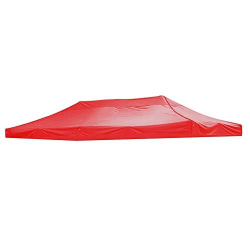 hdfj12142 Gazebo a baldacchino Oxford Impermeabile 3x4,5 m, Garden Party Sun Sail, coperture di Ricambio per baldacchino per Gazebo Sun Shade Canopy, (Solo in Alto)-Rosso