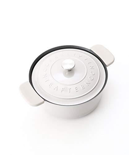 [アフタヌーンティーリビング]AfternoonTeaLIVING両手鍋ロゴ柄エンボスココット鍋20cmグレー
