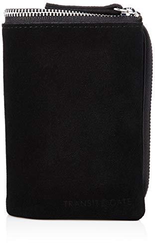 [トランジットゲート] スエード 二つ折り財布 財布 サイフ ベージュ L字型 小銭入れ コインケース メンズ 男性 ジップ TransitGate ブラック
