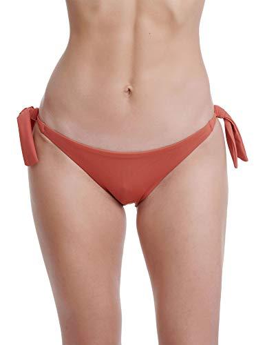 FUNKY BUDDHA Women's Bikini Bottom Orange in Size Medium