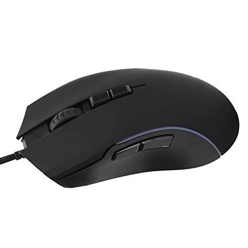 Zunate Mouse cablato, 7200 DPI RGB Light Gaming Mouse 7 Pulsanti Mouse USB ergonomico cablato per PC Aziendale per Laptop, Notebook per Ufficio e Uso Domestico