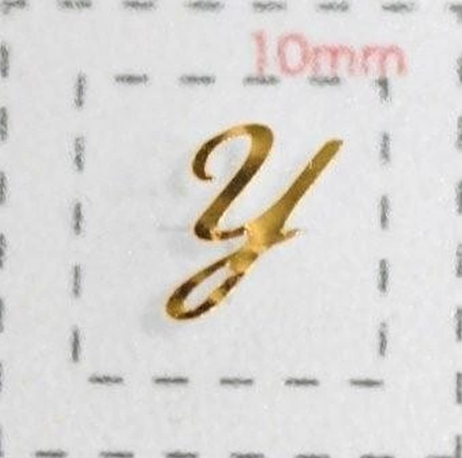 間違えた対マトリックスNameネイルシール【アルファベット?イニシャル】大文字ゴールド( Y )1シート9枚入