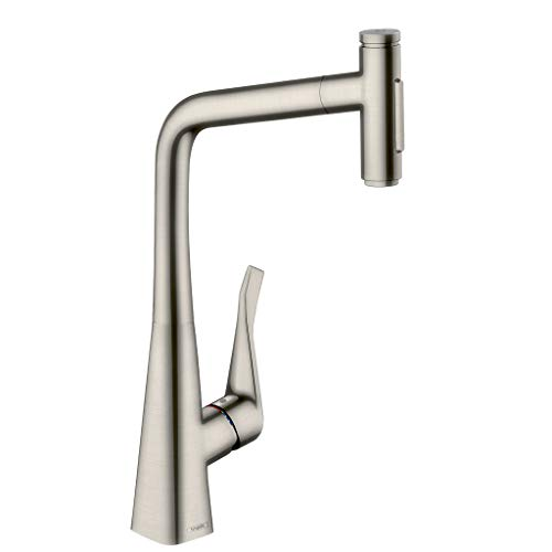 hansgrohe M7117-H320 mezclador monomando de cocina con ducha extraíble acabado acero inoxidable