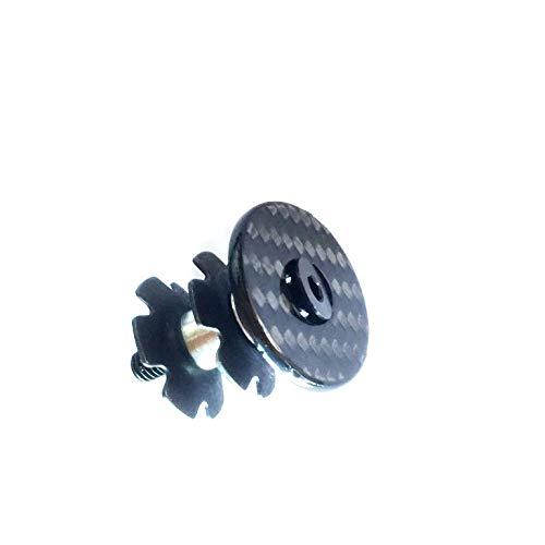 Carbon A-Head Vorbau Steuersatz Kappe Glossy 1 1/8 Zoll mit Kralle + Titanschraube