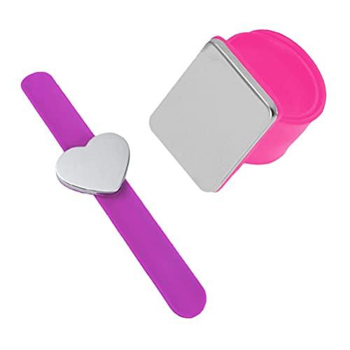 Angoily 2 Piezas Magnético Bobbies Clip para El Cabello Pulsera Peluquero Costura Silicona Slap Pulsera Magnético Pin Cojín Pin Titular Pulsera