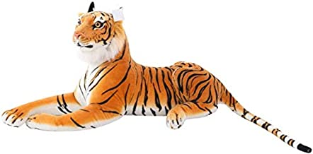 Giant Yellow or White Tiger Toys Jungle Stuffed Animal Soft Plush Toys for Children/Boys/Girls/Birthday/Christmas/Valentine Day-23.6 inch Bonheur (Color : Yellow, Size : 11.8 inch)