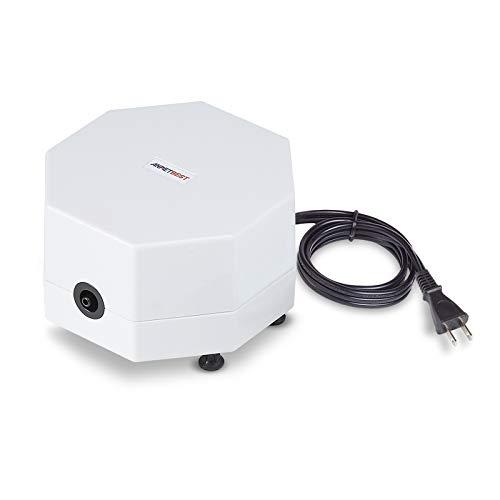 エアーポンプ 小型 エアポンプ 空気ポンプ 低騒音 4W 酸素提供 強力 吐出量6.8L/Min 水族館 水槽 水耕栽培 PSE認証済み (LNP-10S)