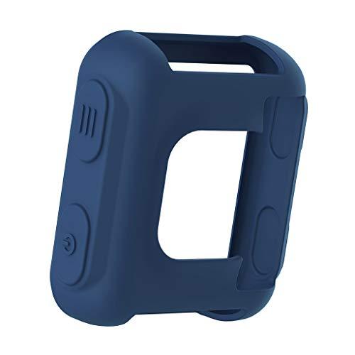 MiSha Funda Protectora de Silicona para el Reloj Deportivo Forerunner 35 Approach S20(Azul Oscuro)