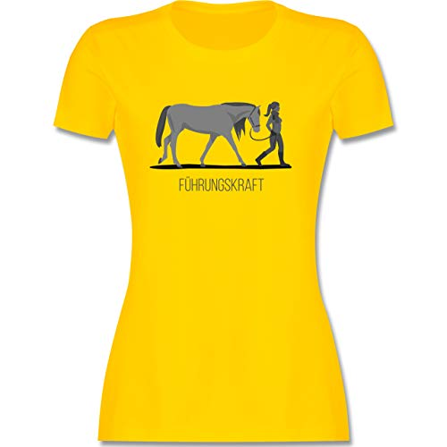 Reitsport - Führungskraft - S - Gelb - Shirt führungskraft - L191 - Tailliertes Tshirt für Damen und Frauen T-Shirt