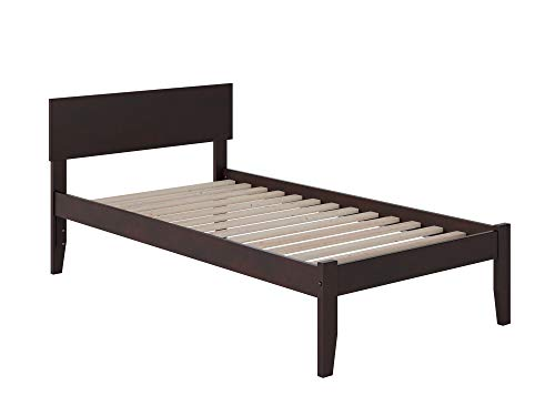 Atlantic Furniture Orlando Platform Bed with Open Foot Board, Twin XL, Espresso