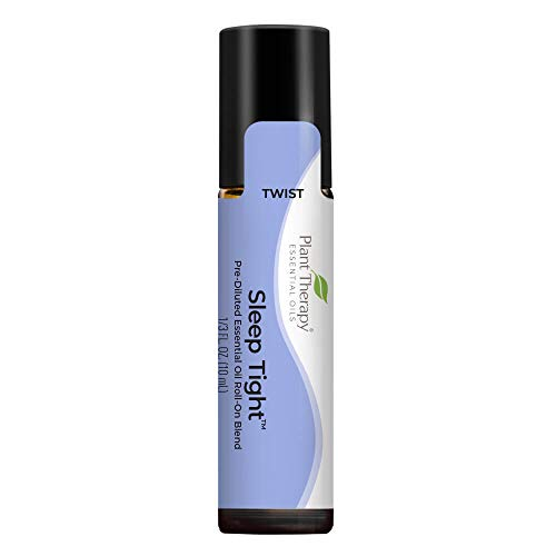 Plant Therapy Sleep Tight Essential Oil Blend 10 mL (1/3 oz) Pre-Diluted Roll-On 100% Pure, Therapeutic Grade