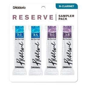 D'Addario Woodwinds D'Addario Reserve Bb Clarinet Reed Sampler Pack, 3.5+/4.0 (DRS-C355)