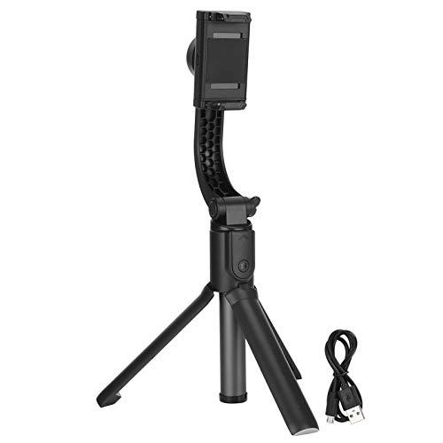 Cikonielf Estabilizador de Mano con trípode Oculto Teléfono USB multifunción Selfie Stick Trípode de transmisión en Vivo Negro