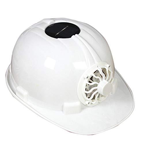 Solar Casco Fan, Esterna Casco Lavoro, Casco Protettivo, ABS del Casco sul Posto di Lavoro Protezione Materiale, Ventilatore Composto da Un Pannello Solare (Color : White)
