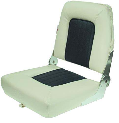 Klappbarer Steuermannstuhl Compass Comfort, weiß / blau Farbe weiß/blau