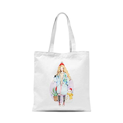 XXT Umweltschutz-Beutel-Retro- Nette eine Schulter Tasche Stoff Umweltschutz Tasche (Color : J, Size : 35 * 40cm)