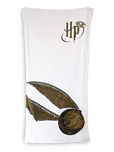 Toalla de baño de algodón de Golden Snitch de Harry Potter, 75 cm x 150 cm, 100% original, producto oficial con licencia