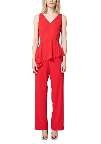 s.Oliver BLACK LABEL Damen 70.903.85.5515 Jumpsuit, Rot (High Red 3100), (Herstellergröße: 40)