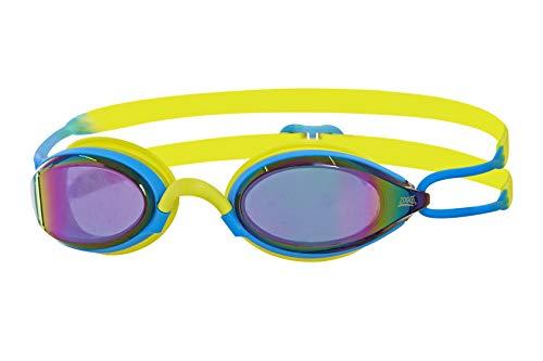Zoggs Gafas de natación, Adultos Unisex, Azul/Lima/Espejo, una una talla