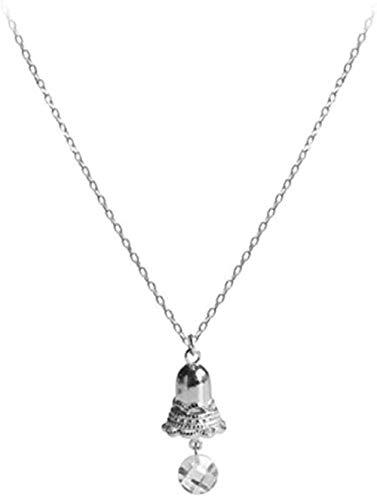 TYWZH Collar Campana Hueca Gota de Agua Cadena de clavícula Collar Femenino
