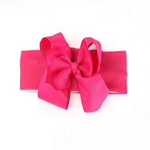 FimGGe Neue Bogenhaarzusätze, Kinderstirnbänder, Farbbandstirnbänder, Kinderbabystirnbänder 5 Stück, rosarot