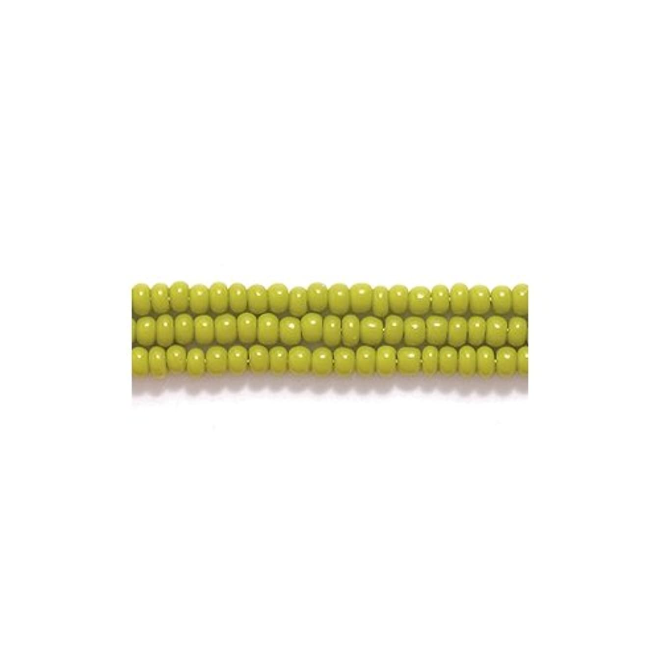 Preciosa Ornela Czech Seed Bead, Opaque Olive Green, Size 11/0