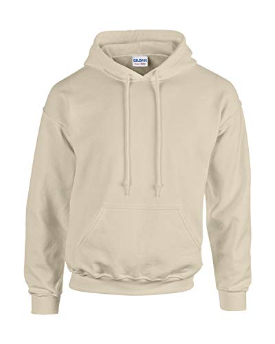 Gildan Herren Adult 50/50 Cotton/Poly. Hooded Sweat Sweatshirt, Gr. L, Sand